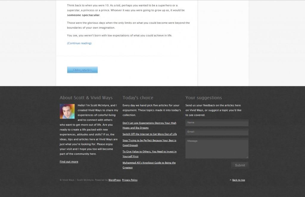 Make bottom bar for website