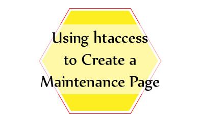 htaccess Maintenance