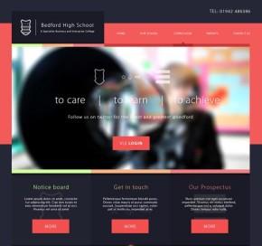 website flat design