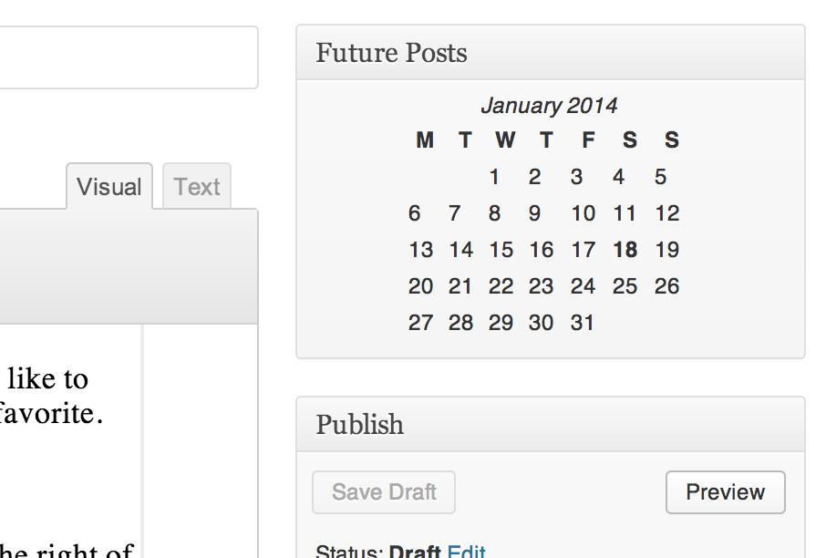 Future Calendar Wordpress Plugin