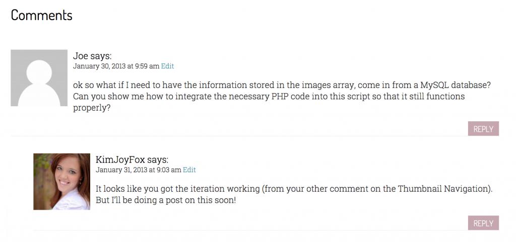 Designing WordPress Comments