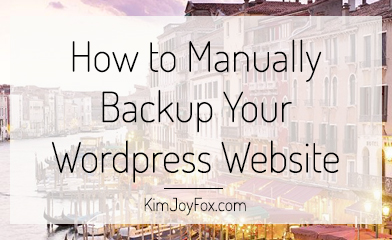 How to Manually Backup Your Website