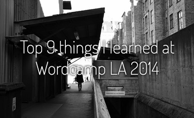 Top 9 things I learned at Wordcamp LA 2014