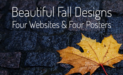 Beautiful Fall Designs - websites and posters