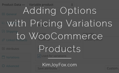 WooCommerce options pricing variations