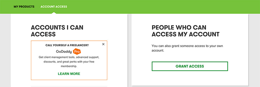 How to Share Godaddy access