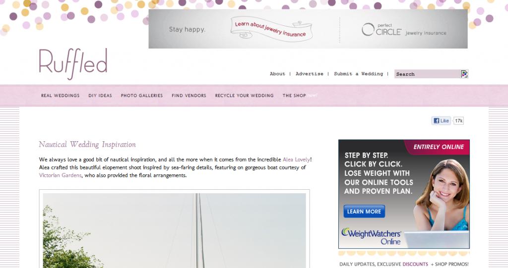 Design Critique: Ruffled Wedding Blog