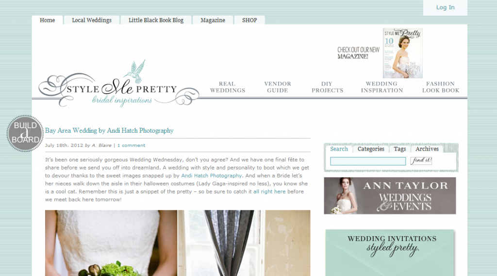 Design Critique: Style Me Pretty