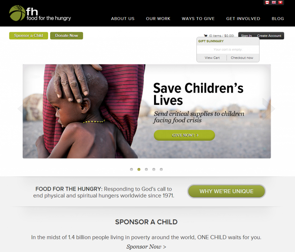 Charity Spotlight: Food For the Hungry