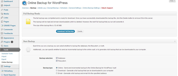 Online WordPress Plugin