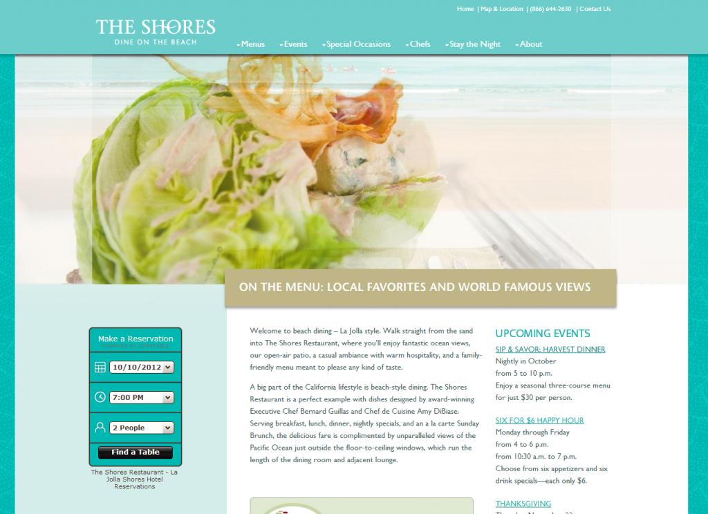 Design Critique: Restaurants Google LA - The Shores Restaurant