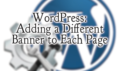 Wordpress Banner Different Pages